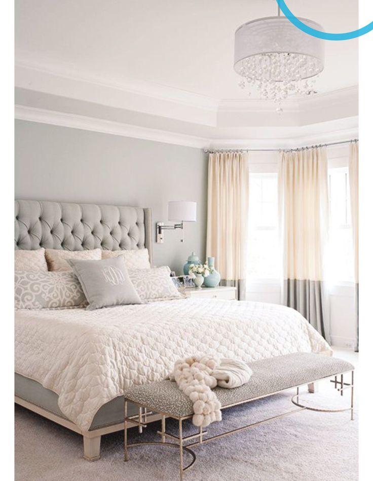 Rahat, ferah bır yatak odası dekorasyonu...