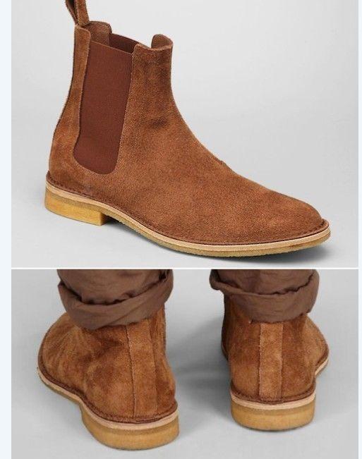79d376fc38a Handmade mens Tan Chelsea suede leather boots, Men tan color suede ...