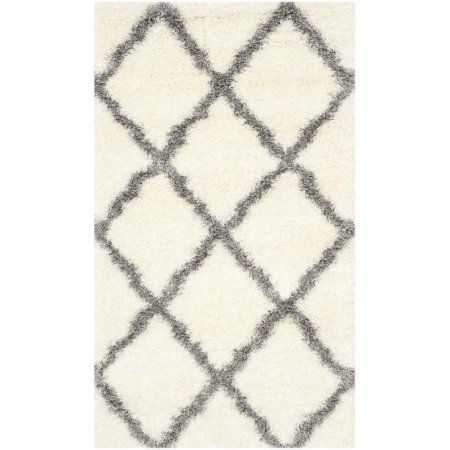 Safavieh Montreal Cebrail Power-Loomed Shag Area Rug, White