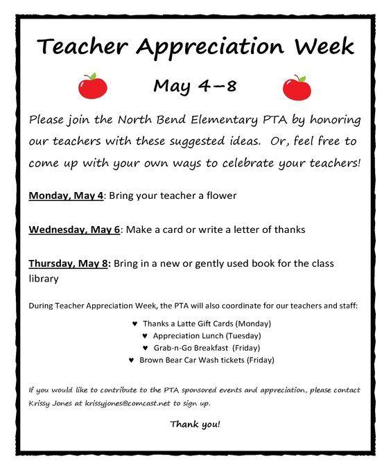 Teacher Appreciation Week schedule - Yahoo Image Search Results