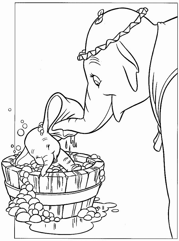 Disney Animal Coloring Pages Best Of Disney Dumbo Animal Cartoon Kids Coloring Pages Hitam