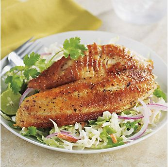 Pan Seared Tilapia with Citrus Slaw by @mytexaslife