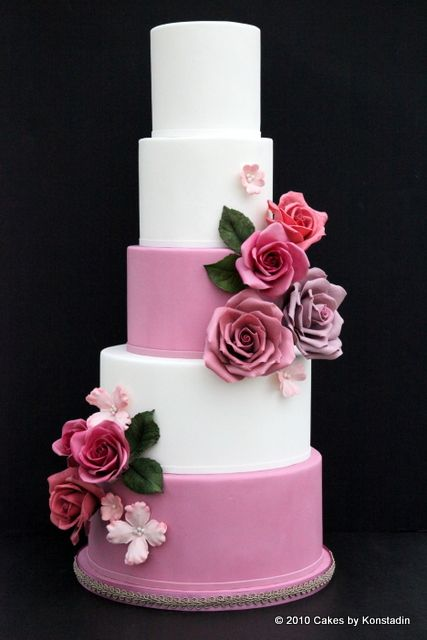 Striking Wedding Cake Designs from Cakes by Konstadin - MODwedding