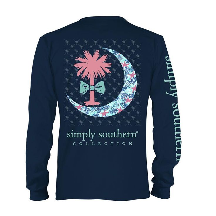 Miley- simply southern long sleeve tee shirt. Size youth small. Any design is fine.   Youth Exclusive Simply Southern Prep Palmetto Moon T- Shirt