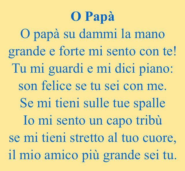 Filastrocca Festa papà