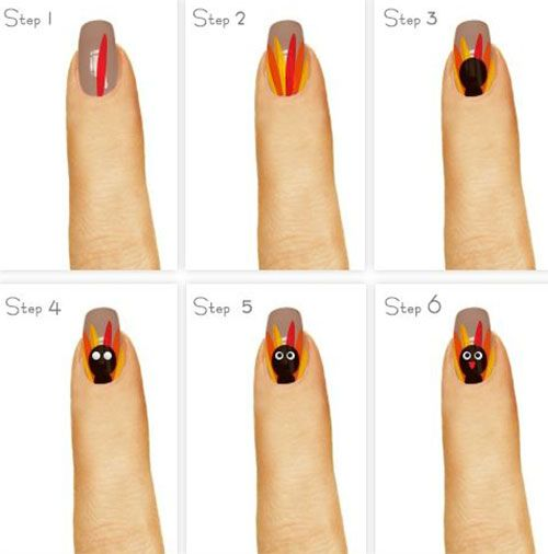 18 best step by step thanksgiving nail art tutorials images on today i am unfolding before you easy step by step thanksgiving nail art tutorials of 2015 for beginners learners prinsesfo Images