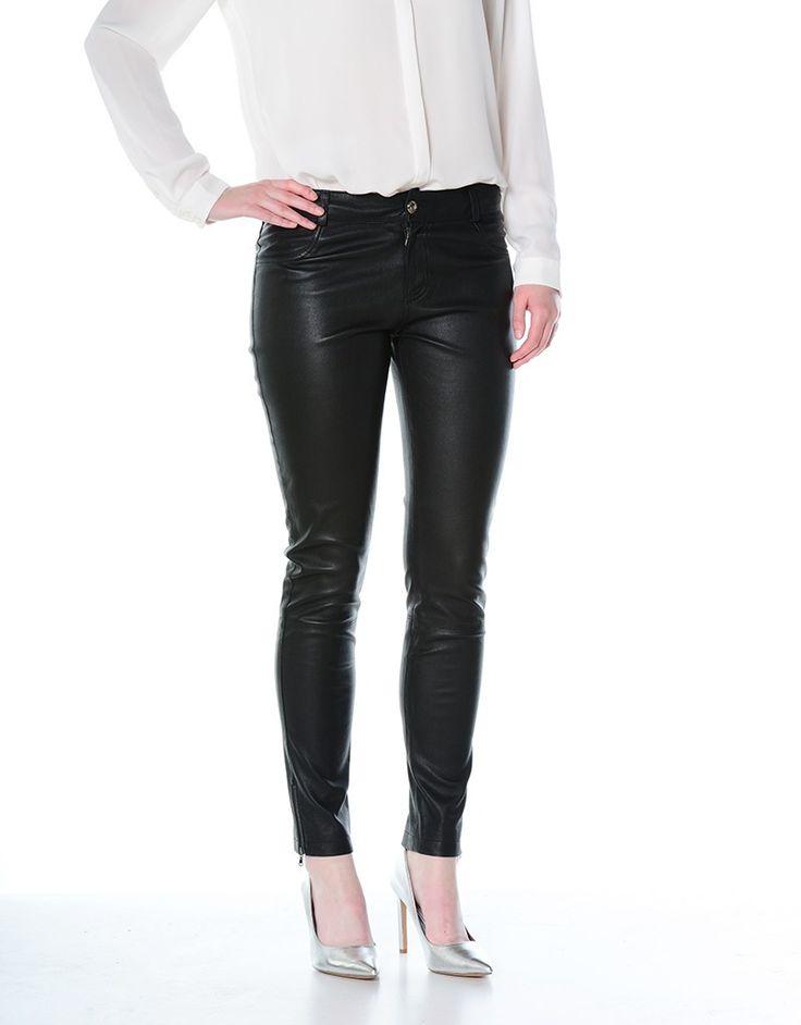 Kadın Deri Stretch Pantolon Siyah FW-4657L065-SYH 1307