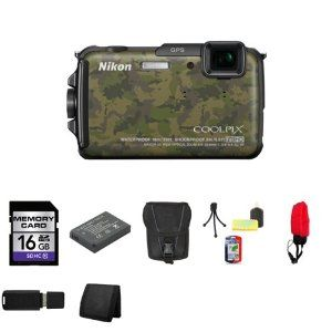 BEST BUY Nikon COOLPIX AW110 Digital Camera (Camouflage) 26413