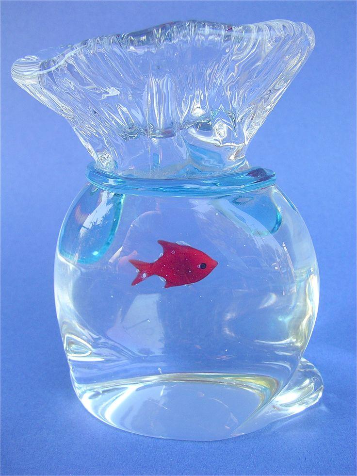 Murano paperweight fish bowl