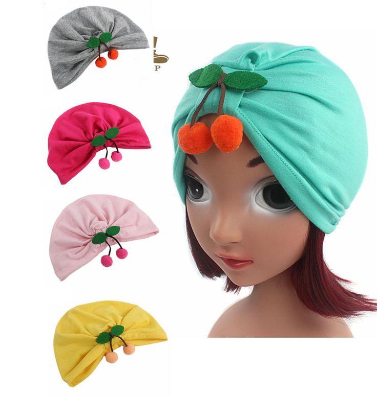 >> Click to Buy << Exclusive sale Kids Cotton Turban Children Hijab Turbante Hat Cherry Pendant Photography Turbante Hat #Affiliate