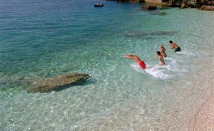 Dubrovnik, Croatia, Swimming in the sea