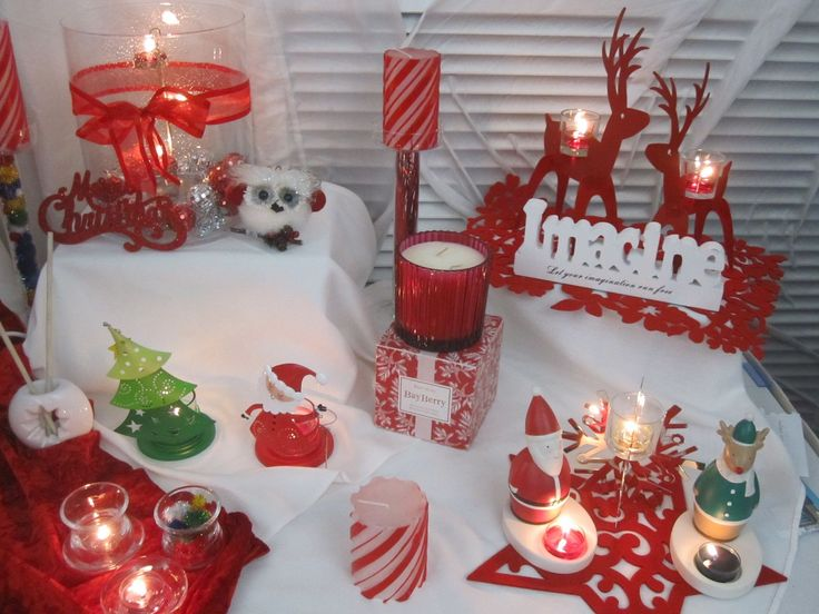Christmas glamour with the Grand Hurricane and Christmas whimsey with Nick & Rudy tea light holders