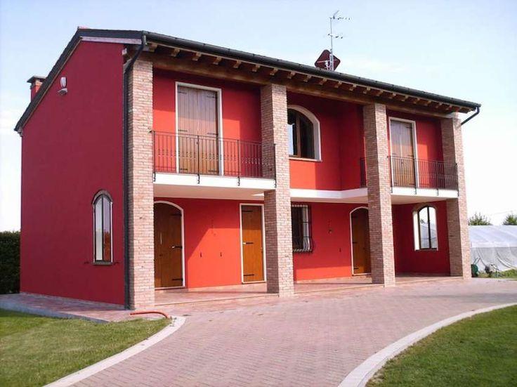 Colore muri esterni di casa - Tinteggiatura esterna rosso
