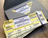 DIY printable Concert Tickets Save the Date Wedding or Birthday Party Invitation