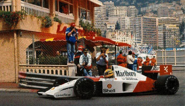 "Monaco.     ""I was already on pole, then by half a second and then one second and I just kept going. Suddenly I was nearly two seconds faster than anybody else, including my team mate with the same car."" -Aryton Senna: Ayrton Photo, Mclaren Ayrton, Carlo Drawings, Colorfb Ideas, Ayrton F1, Cars, Monaco Grand, Racing Machine, Ayrton Senna"