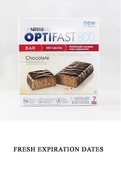Meal Replacement Drinks: New Formula | Optifast® 800 Meal Replacement Bar | Chocolate Bars | 6 Boxes -> BUY IT NOW ONLY: $125 on eBay!