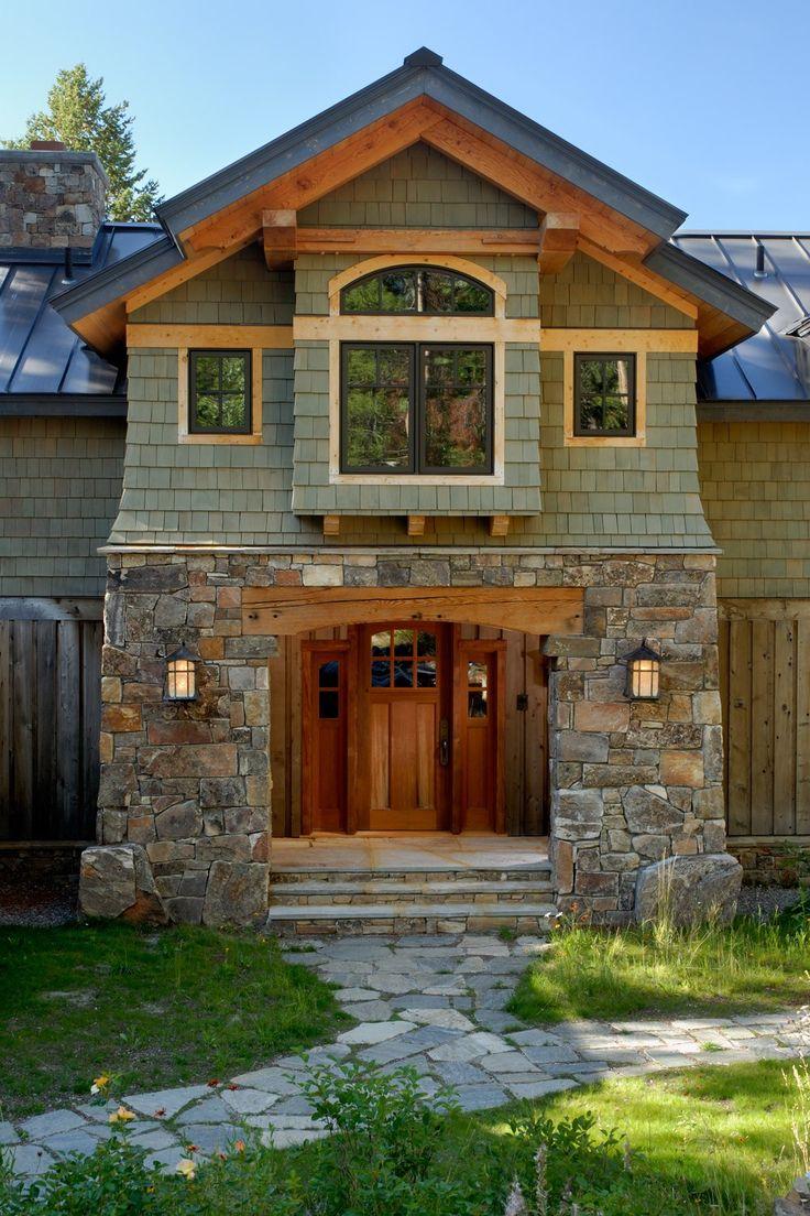 Foyer Mudroom Kit : Wyoming custom timber frame home stone entry