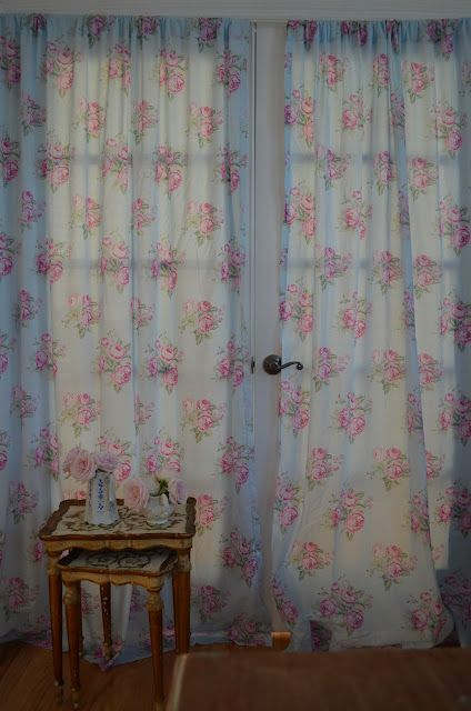 74 best images about shabby chic curtains on pinterest window treatments drapery rods and lace - Shabby chic curtain poles ...
