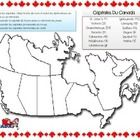 This is a blank map ready for students to fill in the capitals of all the Provinces and Territories of Canada. It is a great supplementary activity...