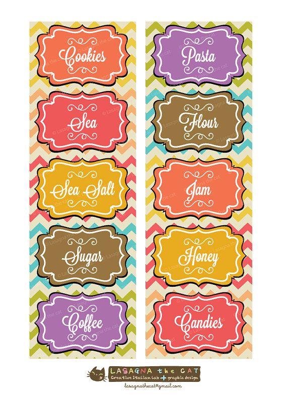 Extrêmement Oltre 25 idee originali per Etichette barattoli su Pinterest  YE62