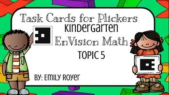 This Plicker Card packet can be used as exit slips or review during small group instruction. Simply upload the pictures into your Plickers Library. This pack includes quick check task cards for all seven lessons in Topic 5. They can be printed for small group quick checks or