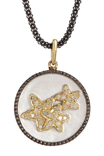 Pave Diamond Stars Pendant Necklace - 0.19 ctw by United Gemco Inc. on @HauteLook