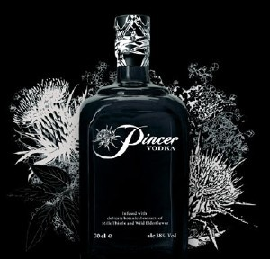 Pincer Vodka. The world's strongest vodka - from Scotland. Boosh!