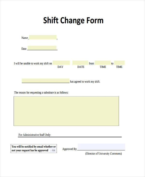Image Result For Letter To Employee Of Shift Change Notification