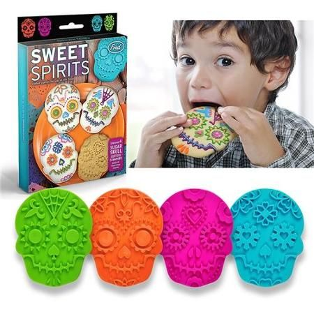 Fred & Friends 4 pcs Colorful Sweet Spirits Cookie Cutters Cutter Set Lot Biscuit Mold