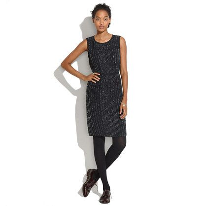 Sequin Line Dress - waist defined dresses - Women's DRESSES - Madewell: Madewell Sequin Line Dress, Dress Madewell 298, Style, Woman Dresses, Sequins, Defined Dresses, Women S Dresses, Black Dress