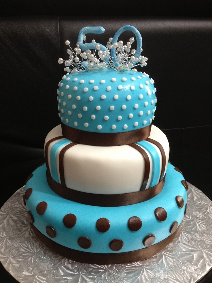 Tiffany Blue And Brown Birthday Cake For My Girlfriends