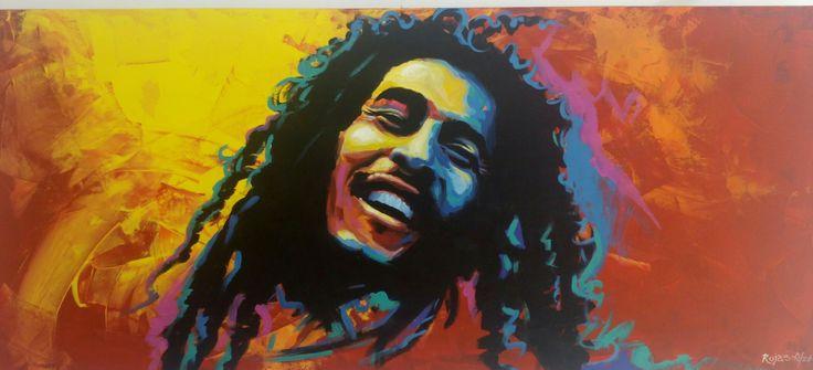 #Art #Acrylic #Painting #Bobmarley #RojasA