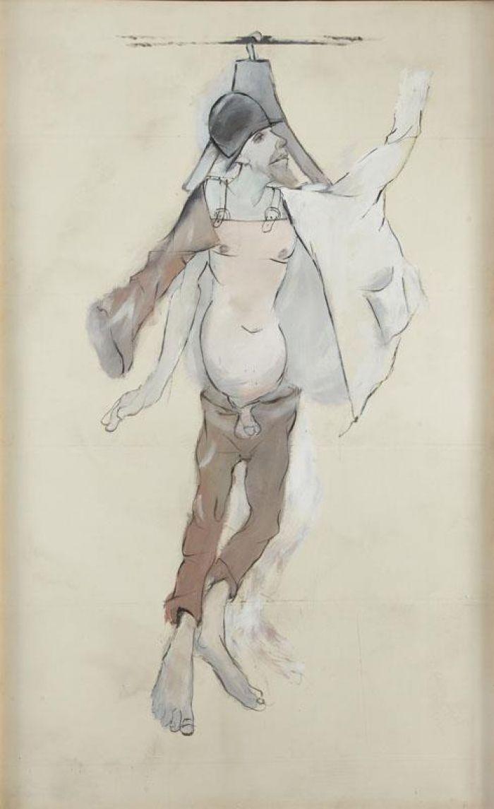 Tadeusz Kantor - Człowiek Atrapa, projekt kostiumu, 1984