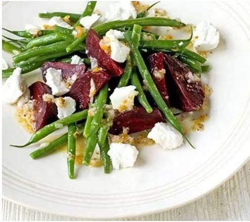 Beetroot lends itself nicely to walnuts, thyme, basil and goats cheese. This is a version of the delicious 'Beetroot, Walnut and Goat Cheese Salad' from Janella Purcell's book 'Eating For The Seasons'. Janella suggests sprinkling Tamari Seeds over salads.