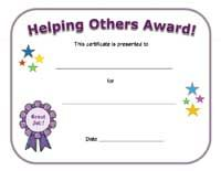 helping others certificate