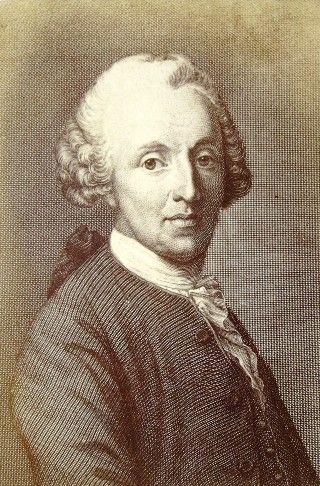 """Christian Fürchtegott Gellert (1715-1769)  bij wie lezingen over dichtkunst en moraal volgde; Goethe beschrieb in """"Dichtung und Wahrheit"""" Gellerts Morallehre als """"Fundament der deutschen sittlichen Kultur."""
