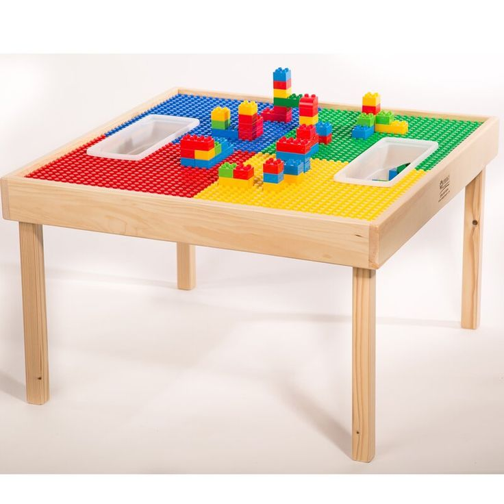 Table Lego Storage, Wooden Lego Table With Chairs