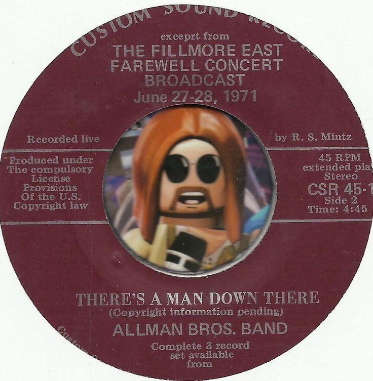 ALLMAN BROS BAND / MOUNTAIN Theres A Man Down There GROUP ROCK PROMO RADIO SHOW