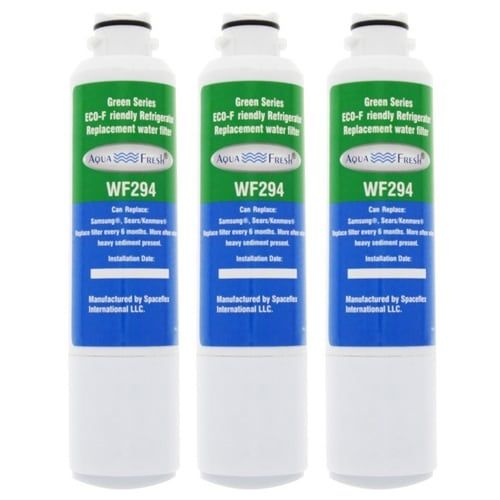 AquaFresh Replacement Water Filter for Samsung RH22H9010SR/AA Refrigerator Model (3 Pack), Blue aqua