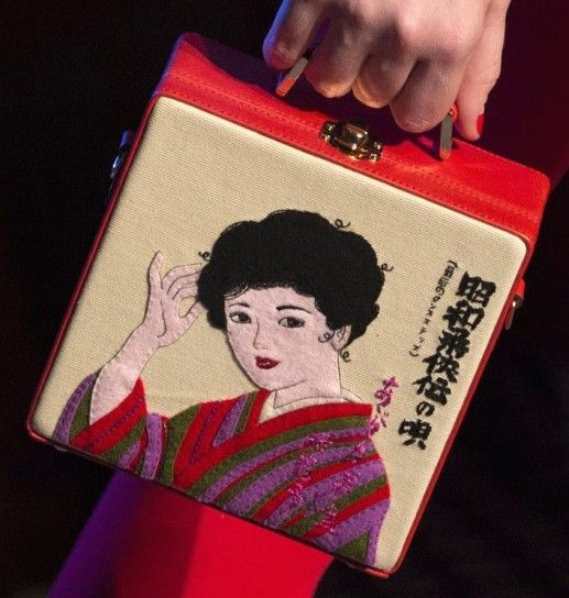 Mini box bag con geisha Olympia Le Tan