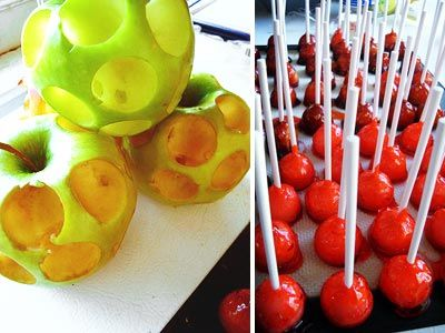 Mini Candied Apples - for fairytale dessert table - inspired by Snow White.
