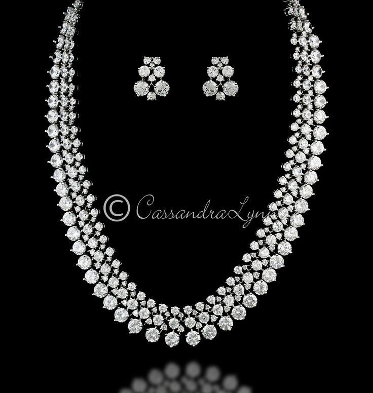 Stunning Cubic Zirconia Bridal Jewelry Set
