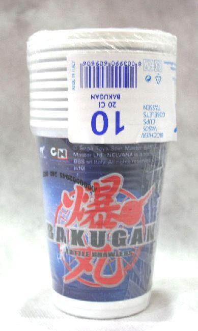 10 Bicchieri plastica deco Bakugan, per compleanni e feste a tema. Disponibili da C&C Creations Store