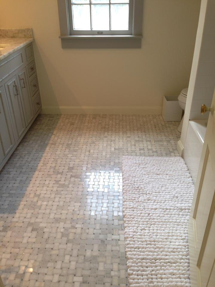 Biltmore Niles marble floors #marble #thetileshop #masterbath #renovate