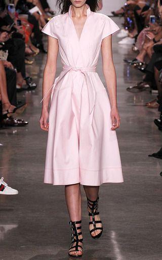Mandarin Collar A Line Dress by ZAC POSEN for Preorder on Moda Operandi