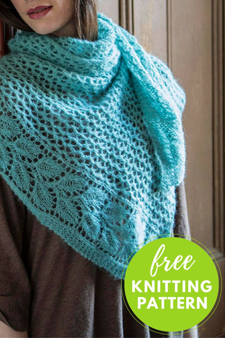 Free Knitted Shawl Pattern : 191 best images about knit - shawl on Pinterest