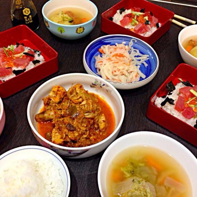 レシピとお料理がひらめくSnapDish - 5件のもぐもぐ - 子供とパパいくらとマグロ丼&ママenjoy スパイシーインドネシア料理 by vivi
