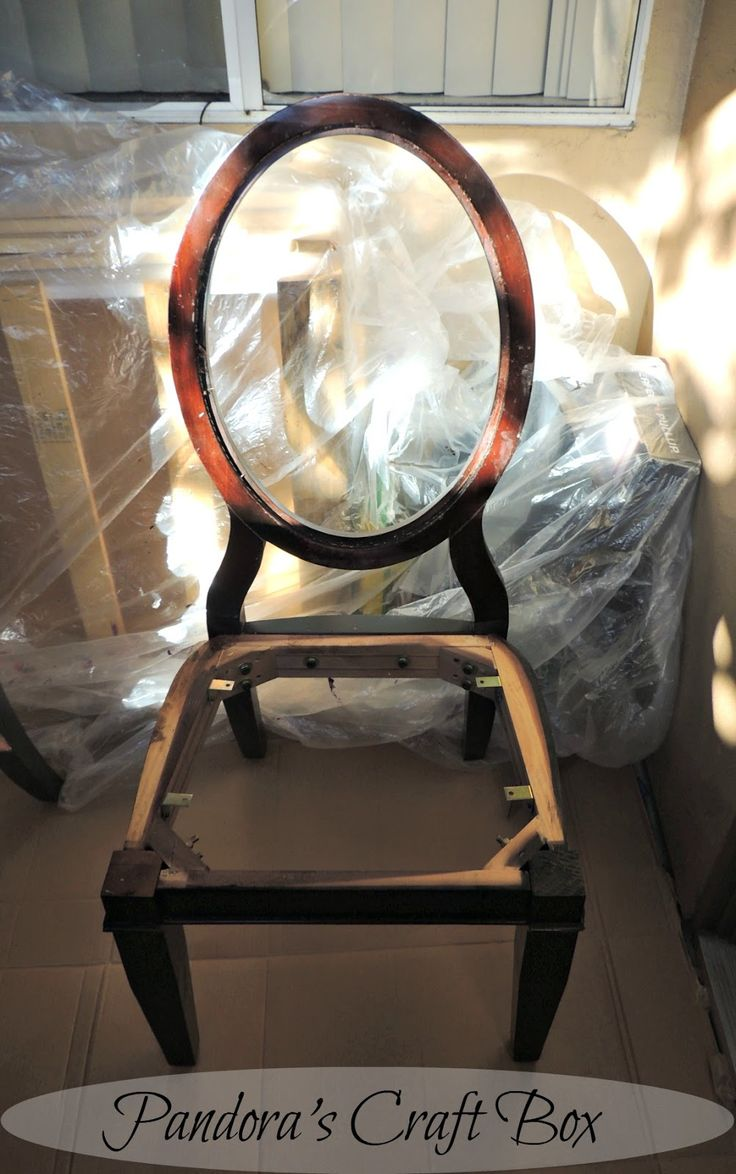 Pandoras Craft Box Dinning Room Chair Repair And Reupholstering Makeover
