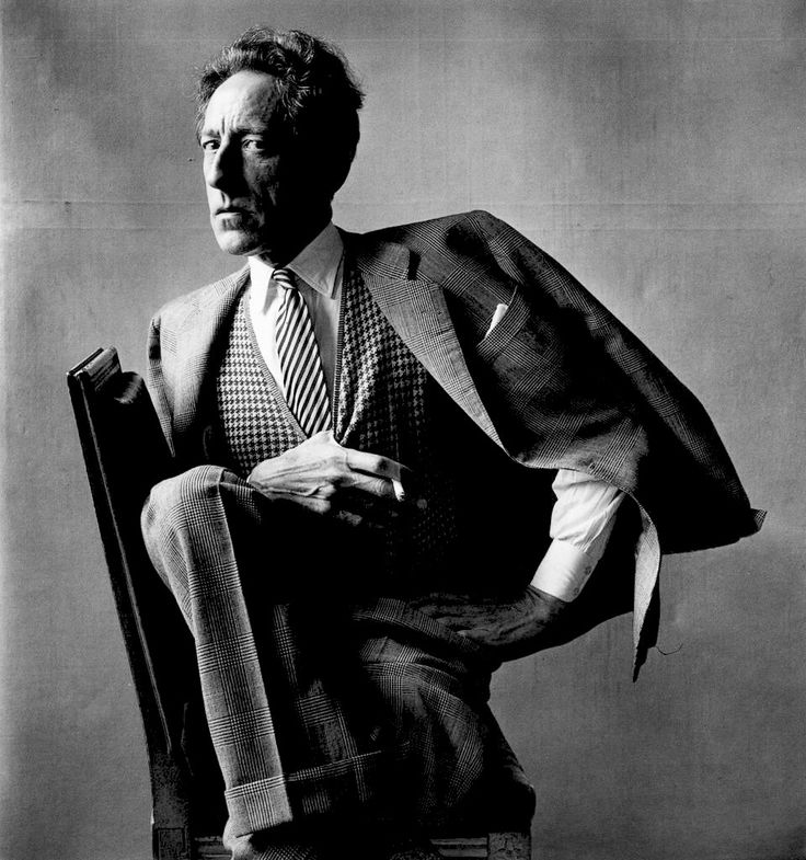 Jean Cocteau (1889-1963) - French poet, novelist, dramatist, designer, playwright, artist and filmmaker. Photo by Irving Penn