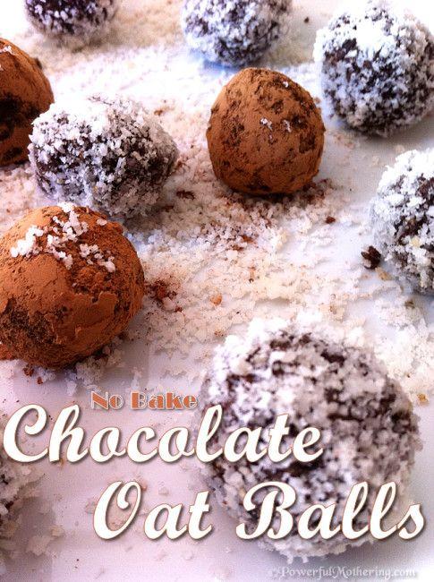 Raw No Bake Chocolate Oat Balls Recipe